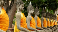 Zoom Out - Statues of Buddha - Thailand - stock footage