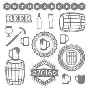 Oktoberfest Set, illustration. Stock Illustration