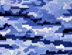 blue  texture puzzle - stock illustration