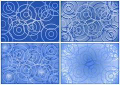 circles on a blue background - stock illustration