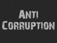 Text for Anti Corruption on black background - stock illustration