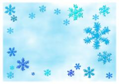 Stock Illustration of Choppy snowflakes
