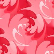 Seamless wavy background in red - stock illustration