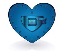 Stock Illustration of iron heart