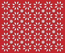 White snowflakes on red background - stock illustration