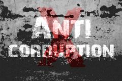 Stock Illustration of Text for Anti Corruption on grunge background