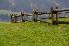Stock Photo of wooden fence