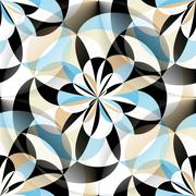 Seamless geometric pattern with rounded elements Stock Illustration
