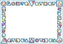 Stock Illustration of Geometric shapes background
