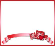 Stock Illustration of Valentine background with ribbon