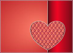 Stock Illustration of Valentine heart card