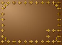 Stock Illustration of background framed with cross pattern