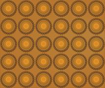 Background of biscuits mandalas - stock illustration