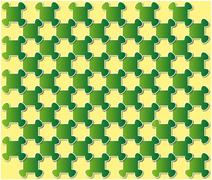 abstract puzzle background green - stock illustration