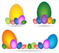 Stock Illustration of easter egg colored