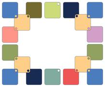 Stock Illustration of frame with colorful squares