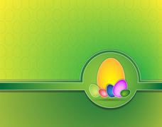 Stock Illustration of Easter background with eggs