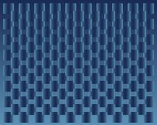 background blue squares transition - stock illustration