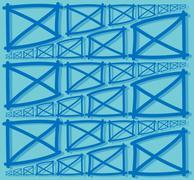 fence parts texture - stock illustration