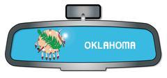 Driving Through Oklahoma - stock illustration