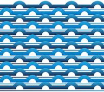 waves on the water surface - stock illustration