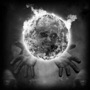 Hands and orb Stock Illustration