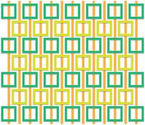 Stock Illustration of orange and green square pattern