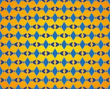 abstract rhombic pattern - stock illustration