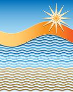 Stock Illustration of Summer wavy background