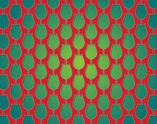 Stock Illustration of tulips pattern red and green