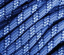Climbing rope texture blue Stock Photos