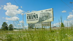Welcome to Chama Sign Stock Footage
