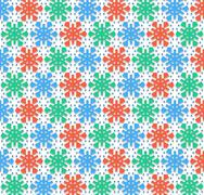 Stock Illustration of Christmas snowflakes color