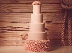 5 tier marzipan cake - stock photo