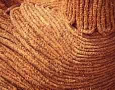 Stock Photo of brown braided straw