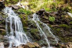 Stock Photo of waterfall in the Carpathian mountains