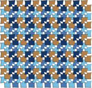 irregular squares pattern - stock illustration