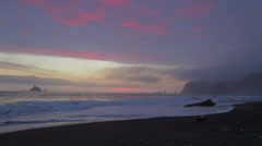 Sunset in the Pacific Northwest at Rialto Beach 2 Stock Footage