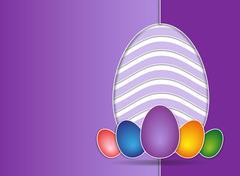 Stock Illustration of Easter card violet background