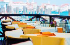 Elegant Restaurant Dinning. Stock Photos