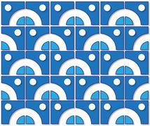 Stock Illustration of blue tile pattern