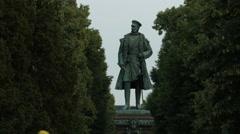 Prince Friedrich Karl of Prussia statue, Berlin Stock Footage