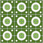 Stock Illustration of tile pattern green