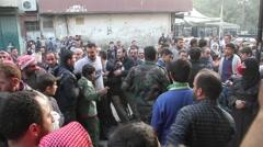 Bread Lines in Aleppo Syria  Stock Footage