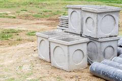 Asbestos pipe for construction job Stock Photos