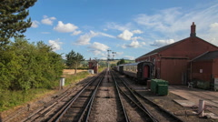Summer time-lapse on a rural railway line Stock Footage