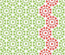 Stock Illustration of Heart flower pattern