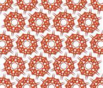 radial red bacteria - stock illustration