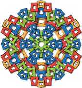 Aztec mandala big sun Stock Illustration