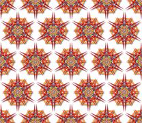 Stock Illustration of fabric mandala harsh sunlight